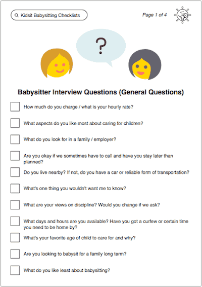 43 Babysitter Interview Questions Responses To Look For